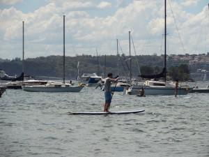 Paddling in Rose Bay