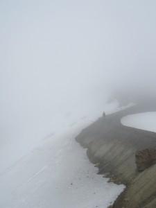 Red Crater sous la neige