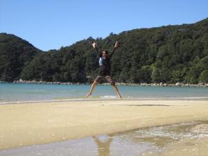 Enjoying Abel Tasman beaches