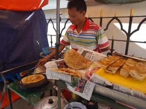 Stand de crêpes à Yangon