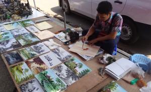 Yangon street artist