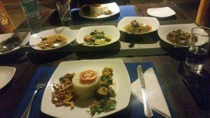La belle assiette décorée de rice & curry