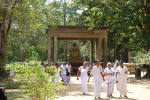 Procession devant Samadhi budha