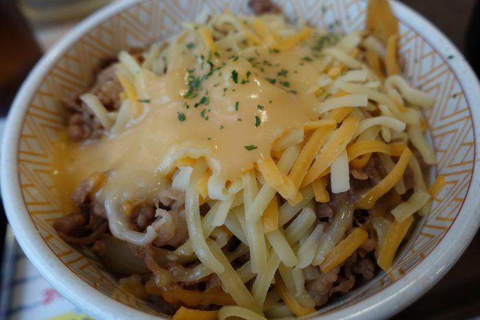 Cheese gyudon