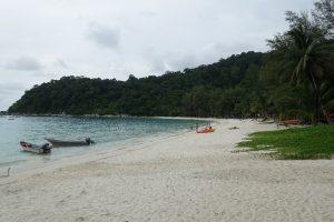 La plage PIR par temps couvert