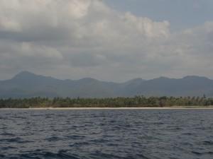 Gili Air vue depuis la mer